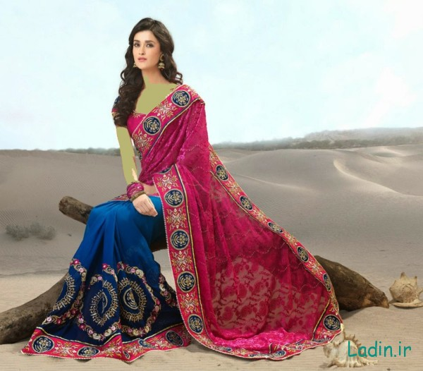 Indian-Bridal-Sarees-2014-2015-Stylish-Indian-Bridal-Sarees-Designs-Collection-2014-2015-for-Brides-fashionmaxi.com-blogspots.com-2B14