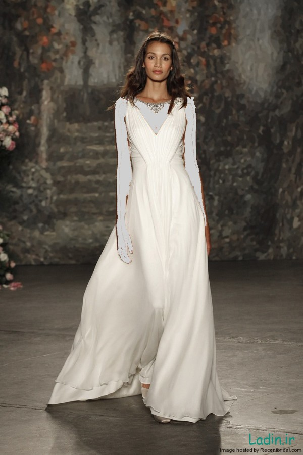 Jenny-Packham-Spring-2016-draped-A-line-wedding-dress