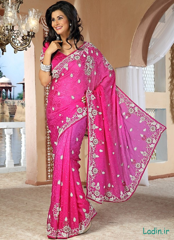 amazing-rose-pink-jacquard-bridal-saree-800x1100